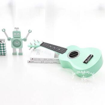 ハードカン緑小清新ウクレウ21寸23寸ハワイ四弦琴の初心者であるギタ21寸教程+ピカク+弦ミトンに代わるインストリング