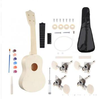 智扣(ZHIKOU)克莉斯コーディネーター21 inチウクレDIY手作り小U児童乐器イベン春节プレゼーバー、のり、絵の具と絵笔が含まれています。