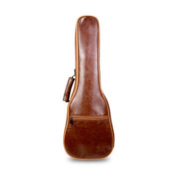 Joelyチョコレートの実木スノボボレレ初心者入門コースウクレ桃心木弾唱指弾Kulele男女復古色の革製オルガンバッグ