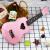 炎黄YanHuaggウクレ初心者入門学生ハート型桜ピンクユーリ克小ささなギタプレゼント桜粉-ハート型桜粉-ハート型21寸標準装備教程