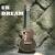 ユッケ梦ウクレ23インチuulele新米初心者小さなギタ楽器&セット23寸バラの木ブドウの穴