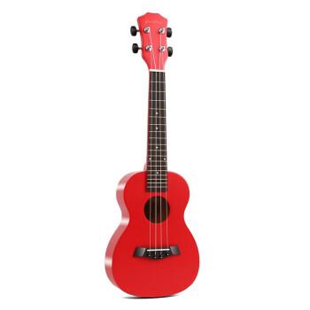 ウクレ23寸初心者女21寸入门小さなギタ男全木质uulele学生児童ウクレ初学ギター23寸-焼けつくように赤い标准版ウクレ