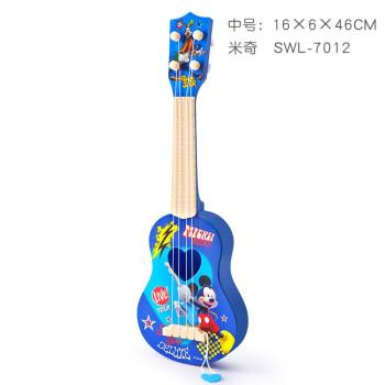 ディズニ-ウクレ小さなギタ供の男と女の子の音楽器のおもちゃんは初心者の音楽のおもちゃんの中号ウクレミチ7012を演奏するものです。